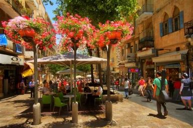 Jerusalem: Flanieren und Kaffee trinken: Die Ben Yehuda Straße - Foto: Noam Chen/IMOT