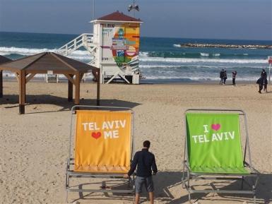 Tel Aviv: 10 Kilometer feiner Sandstrand, social media-tauglich in Szene gesetzt - Foto: tip/erp