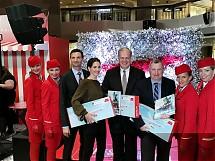 Der Austrian Airlines Eröffnungsevent in einem stark frequentierten Einkaufszentrum stellte die Destination Wien in den Mittelpunkt. Foto: tip/erp
